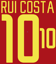 Portugal Rui Costa Nameset 2002 Shirt Soccer Number Letter Heat Print Football H