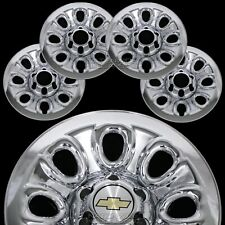 "Set of 4 Chevy 1500 6 Lug 17"" Chrome Wheel Skins Rim Simulators Hub Caps Covers"