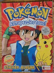 Pokémon Pokemon Sticker Album Autocollant Merlin Album rouge FR Incomplet