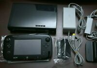 Nintendo Wii U console black 32GB Japan system with game pad US seller