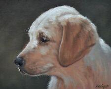 Delightful John Silver Original Oil Painting - Portrait Of A Labrador Dog