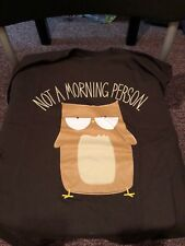 Teefury Men's MEDIUM Brown T-Shirt Not a Morning Person Coffee **FIXED PRICE**