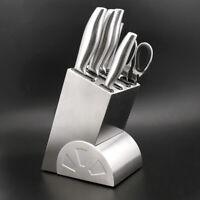 Stainless Steel Knife Holder Block Scissor Storage Rack Kitchen Organizer Tool