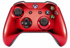 Chrome Red Xbox One S / X Rapid Fire Modded Controller for COD WW2 Destiny &more