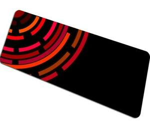 Mouse Pad Black Abstract Big Size Gaming Laptop Pc Desk Computer Gamer Large Mat