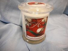 NEW KRINGLE 8.5 OZ CANDLE JINGLE ALL THE WAY HERITAGE IN FRAGRANCE GLASS JAR LID