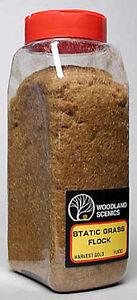 Woodland Scenics 632 Static Grass Flock Harvest Gold 32 oz Shaker - NIB
