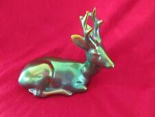 Vintage Zsolnay Hungary Porcelain Figurine Of Deer Lying Down