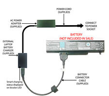 External Laptop Battery Charger for Various Gateway Models, SQU-715, W35044LB-SY