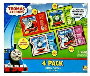 Thomas the Tank Engine 4 Jigsaws Puzzles in 1 (Box Slightly Scuffed - Reduced)