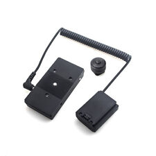 NP-FZ100 Dummy Battery&F970 battery Adapter Mount Plate Spring Cable For Sony