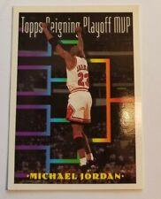 1993-94 TOPPS MICHAEL JORDAN TOPPS  Reigning Playoff MVP #199