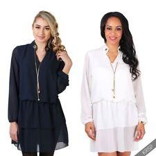 Chiffon Long Sleeve Tunic Tops for Women