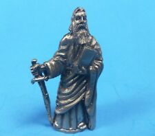 "Pewter / Metal Figurine - Wizard Mage Merlin - 2"" Tall - Dragons"