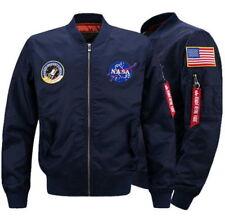 HOT Men's Thin Jacket US NASA  MA1 Flight Bomber Coat Baseball Outwear jackets