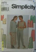Simplicity Sewing Pattern 7970 Jacket Top Pants Skirt Misses Sz 16-20 Uncut 1997