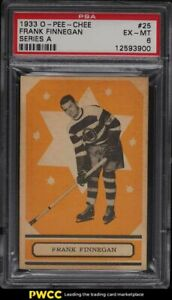 1933 O-Pee-Chee Hockey Series A Frank Finnegan #25 PSA 6 EXMT