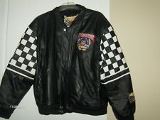 """NASCAR"" Jeff Hamilton 50th Anniversary NASCAR leather jacket Makes a Great Gift"