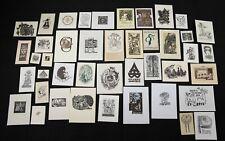 31)Nr.187- EXLIBRIS-und PF Europäische Künstler ,Konvolut 44 Blätter