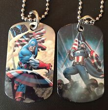 Captain America 2-Sided Color Photo Dog Tag Necklace / Key chain FREE SHIPPING!