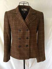 JONES NEW YORK Brown Wool Blazer - Jacket - Coat Women's (8)