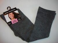 elite collection knee high women's socks gray plain color new size 9-11