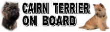 CAIRN TERRIER ON BOARD Car Sticker By Starprint