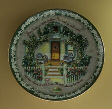Your Home Is Your Garden Plate Welcome Home Glenna Kurz Flowers Floral #3 Third