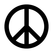 """Peace Symbol sticker 60's retro now more than ever LARGE 6"""" Lot of 2 FREE SHIP!"""