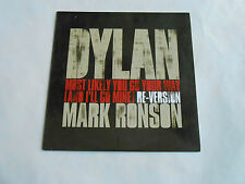 """Bob Dylan Most Likely You Go Your Way And I'll Go Mine 7"""" Vinyl Promotional NEW"""