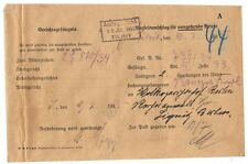 Germany 1935 Tilsit Memel Prison Begleitumschlag Cvr Outgoing Mail From Cell #43