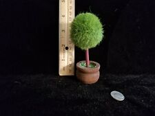 """1:12 scale Dollhouse Miniature~ Topiary Tree in wood container 4"""" tall"""