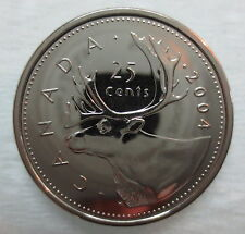 2004P CANADA 25 CENTS PROOF-LIKE QUARTER COIN