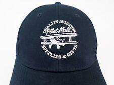 Pilot Mall Hat Cap Aircraft Airplane Biplane Aviation Supplies Gifts Blue