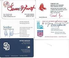 BOSTON RED SOX CFO TIMOTHY ZUE SIGNED BUSINESS CARD