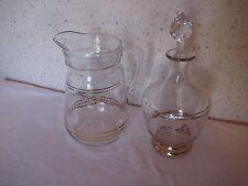 Ancien pichet et carafe en verre
