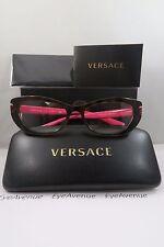 Versace MOD 3223 5148 Havana on Hot Pink New Authentic Eyeglasses 53mm w/Box