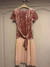 Next Girls Party Dress - Pink velvet  - Age 12