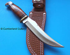 Marbles 440 Stainless  Fixed Blade Skinner Hunting Knife with Leather Sheath