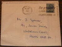 QUEEN ORIGINAL CHRISTMAS CARD WITH ENVELOPE FROM BRIAN MAY TO BRIAN SPENCER 1984