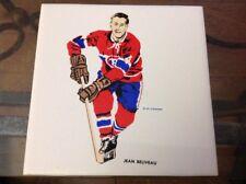 1962-63 HOCKEY NHL H.M.COWAN ORIGINAL JEAN BELIVEAU TILE RARE MONTREAL