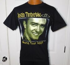 Vintage 2007 Justin Timberlake Jt World Tour Music Rock Band Aaa T Shirt Men's S