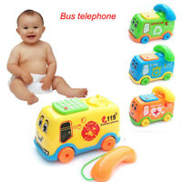Baby Musik Spielzeug Cartoon Auto Telefon Kids Educational Developmental Toys DE