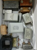 BOX Full/Large Lot of Vintage/New Old Stock Capacitors Plus More