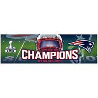 New England Patriots - Super Bowl 49 Champions Helmet & Field Bumper Sticker