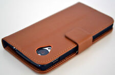 Brown Leather Flip Wallet Case Cover Stand Cash Card For Nexus 5 Google LG E980