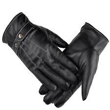 Warm PU Leder Handschuhe Winterhandschuhe Einheitsgröße Reithandschuhe