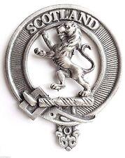Scotland Lion Rampant Pewter Cap Badge Pin
