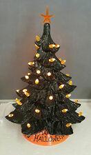Halloween Ceramic Black and Orange 17 inch Tree