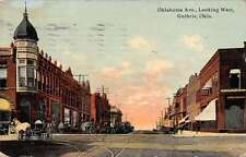 Guthrie Oklahoma Avenue Looking West Antique Postcard J39495